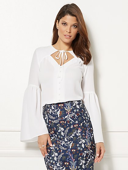 Eva Mendes Collection - Alida Bell-Sleeve Blouse - New York & Company