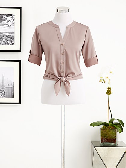 Eva Mendes Collection - Allison Tie-Front Shirt  - New York & Company