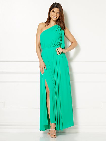 Eva Mendes Collection - Alonza One-Shoulder Maxi Dress - New York & Company