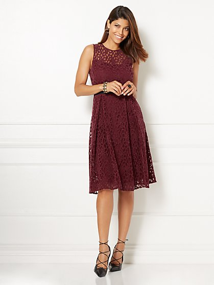 Eva Mendes Collection - Amanda Velvet Lace Dress  - New York & Company