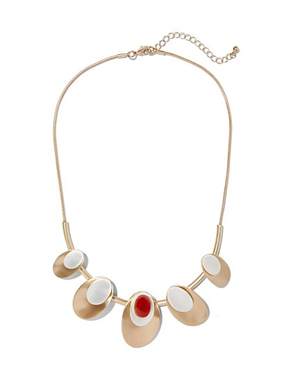 Eva Mendes Collection - Amber Goldtone Necklace  - New York & Company