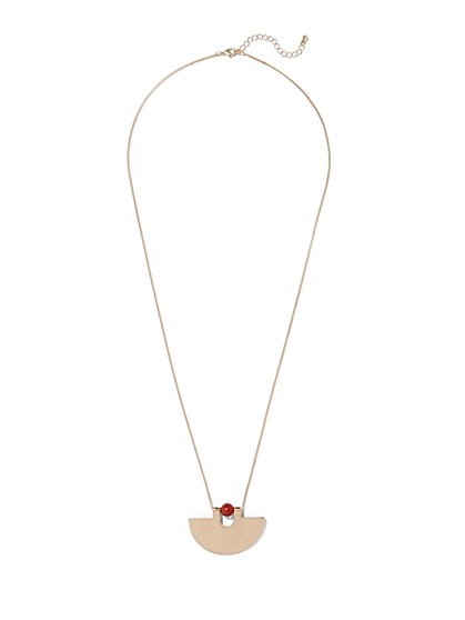 Eva Mendes Collection - Amber Pendant Necklace  - New York & Company