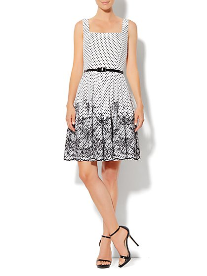 Eva Mendes Collection - Andrea Dress - Dot Print