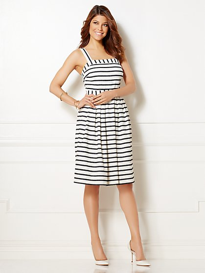 Eva Mendes Collection - Angelica Striped Flare Dress - New York & Company