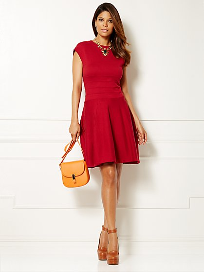 Eva Mendes Collection - Anya Flare Sweater Dress  - New York & Company