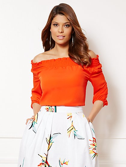 Eva Mendes Collection - Ari Off-the-Shoulder Blouse  - New York & Company