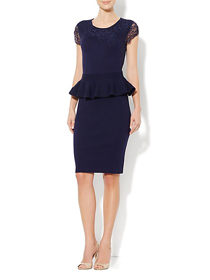 Eva Mendes Collection - Aubrey Peplum Dress