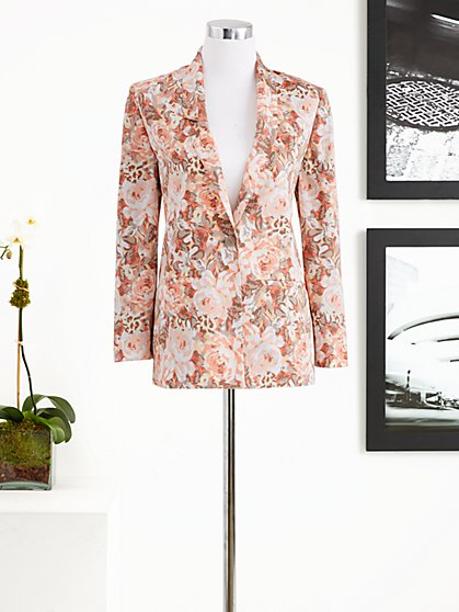 Eva Mendes Collection - Bailey Boyfriend Jacket - Heritage Rose Print