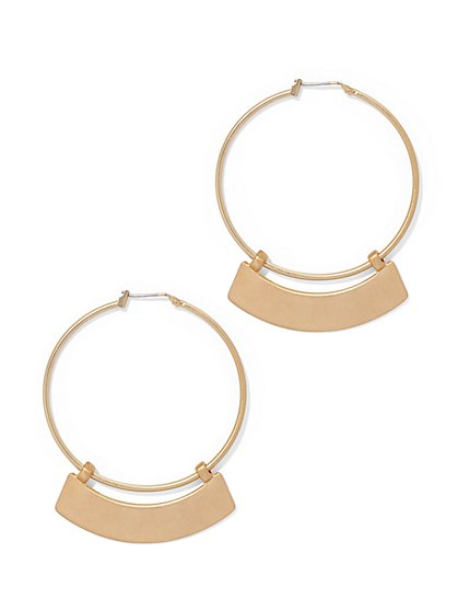 Eva Mendes Collection - Bar Hoop Earring  - New York & Company
