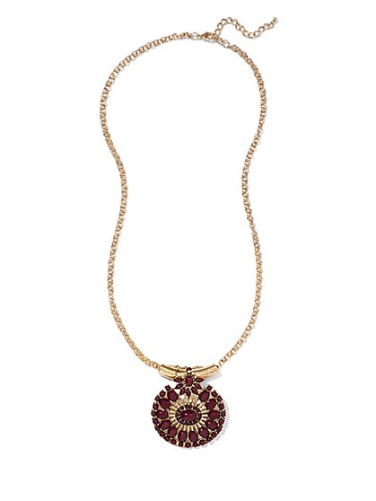 Eva Mendes Collection - Beaded Cluster Pendant Necklace  - New York & Company