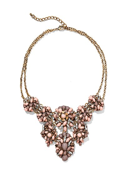 Eva Mendes Collection - Beaded Floral Cluster Necklace   - New York & Company