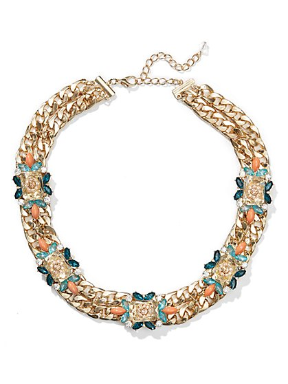 Eva Mendes Collection - Beaded Floral Necklace  - New York & Company