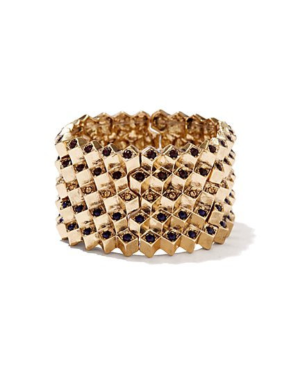 Eva Mendes Collection - Beaded Geo Stretch Bracelet