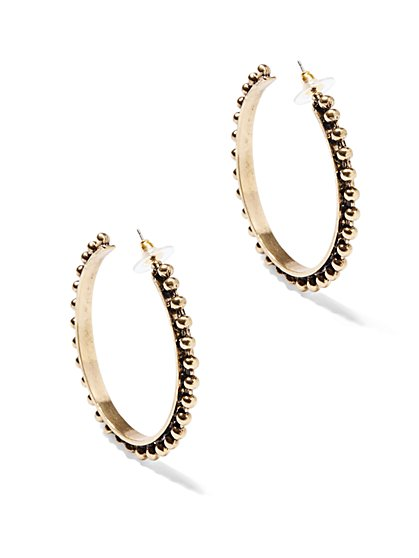 Eva Mendes Collection - Beaded Hoop Earring  - New York & Company