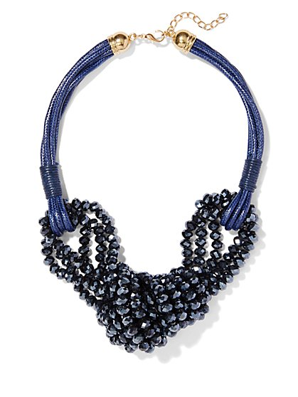 Eva Mendes Collection - Beaded Knot Necklace  - New York & Company