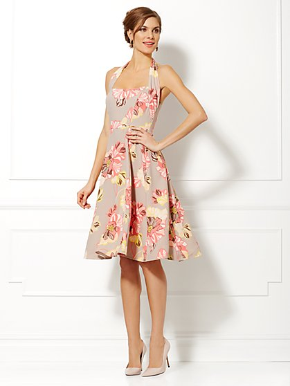 Eva Mendes Collection - Beatriz Floral Halter Dress  - New York & Company
