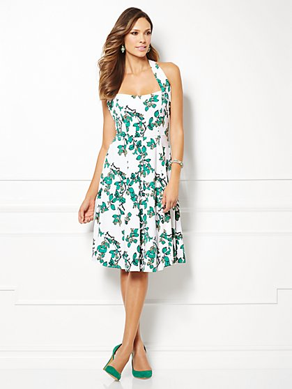 Eva Mendes Collection - Beatriz Halter Dress - Ivy Print  - New York & Company