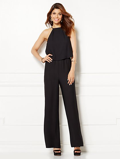 Eva Mendes Collection - Belinda Lace-Back Jumpsuit  - New York & Company