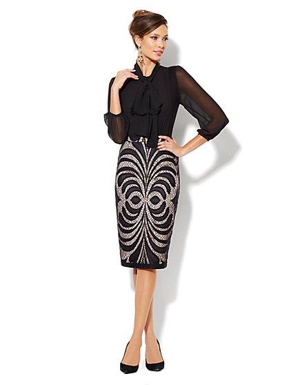 Eva Mendes Collection - Bella Bow Bodysuit  - New York & Company