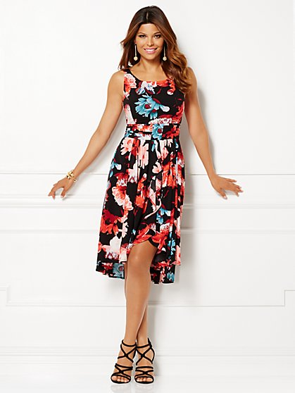 Eva Mendes Collection - Belle Cascade Dress - Petite  - New York & Company