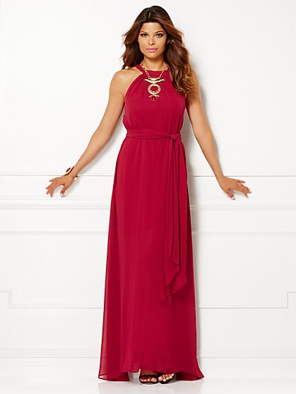 Eva Mendes Collection - Bijou Maxi Dress - Petite  - New York & Company