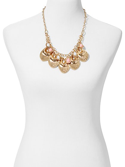 Eva Mendes Collection - Brianna Gold Disc Necklace - New York & Company