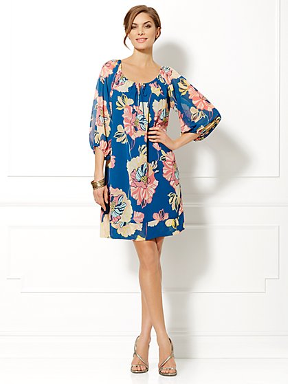 Eva Mendes Collection - Bridgette Chiffon Dress - Floral  - New York & Company