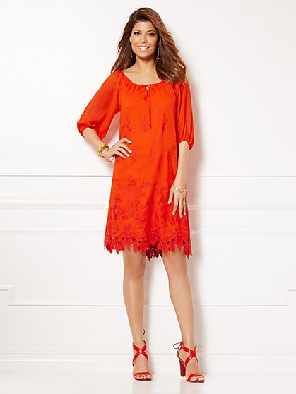 Eva Mendes Collection - Bridgette Embroidered Dress  - New York & Company