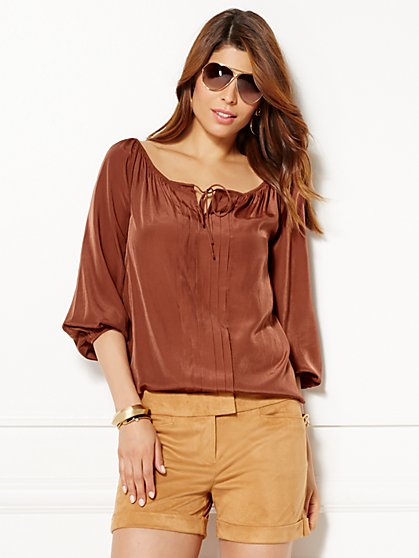 Eva Mendes Collection - Bridgette Peasant Blouse  - New York & Company