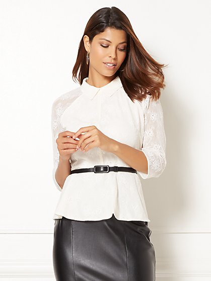 Eva Mendes Collection - Brooke Lace Blouse  - New York & Company