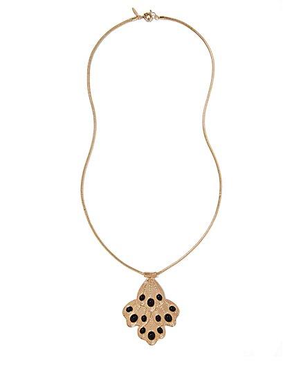 Eva Mendes Collection - Cabochon Pendant Necklace - New York & Company