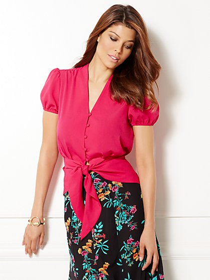 Eva Mendes Collection - Calla Tie-Front Blouse  - New York & Company