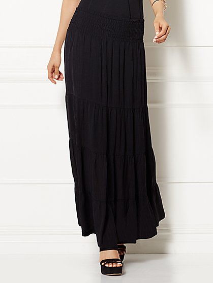 Eva Mendes Collection - Calypso Tiered Maxi Skirt  - New York & Company