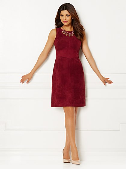 Eva Mendes Collection - Camden Faux-Suede Dress  - New York & Company