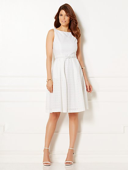 Eva Mendes Collection - Camilla Eyelet Flare Dress - New York & Company