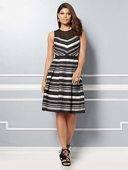 Eva Mendes Collection - Carlita Mesh Flare Dress - New York & Company