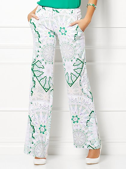 Eva Mendes Collection - Carly Trouser - Kaleidoscope Print  - New York & Company