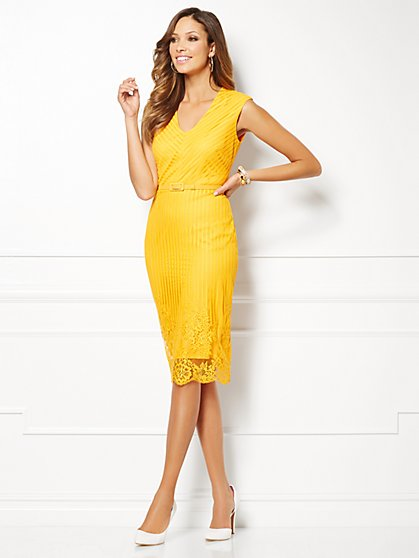 Eva Mendes Collection - Carmen Lace-Trim Dress  - New York & Company