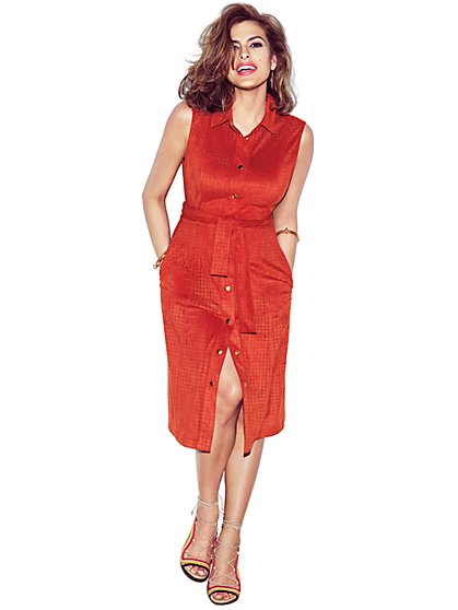 Eva Mendes Collection - Carmen Ultra-Suede Shirtdress - New York & Company