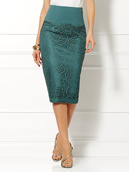 Eva Mendes Collection - Carrie Lace Pencil Skirt  - New York & Company
