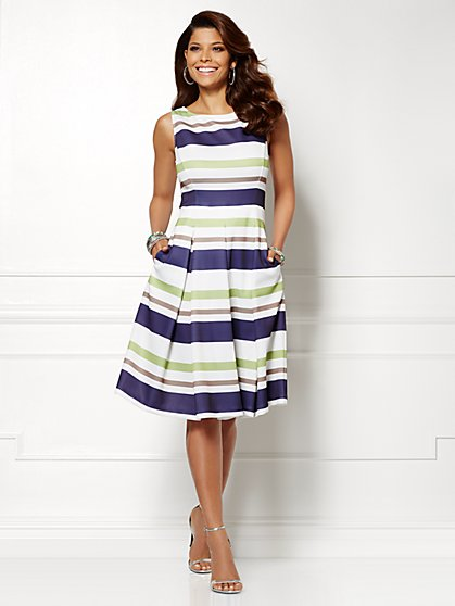 Eva Mendes Collection - Catalina Stripe Dress  - New York & Company