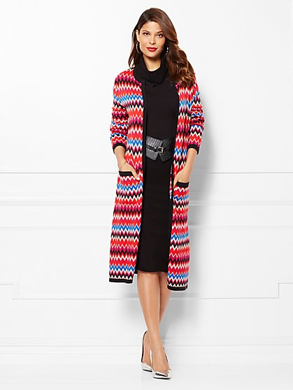 Eva Mendes Collection - Cecilia Sweater Duster - Zigzag  - New York & Company