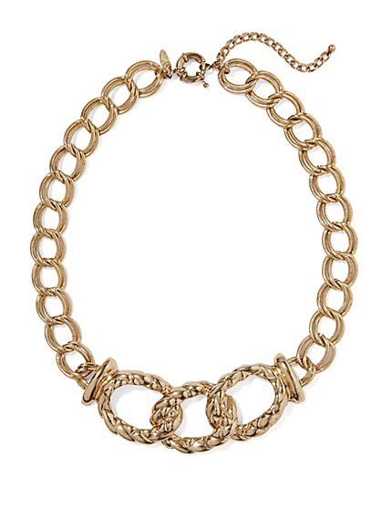 Eva Mendes Collection - Chain-Link Bib Necklace  - New York & Company