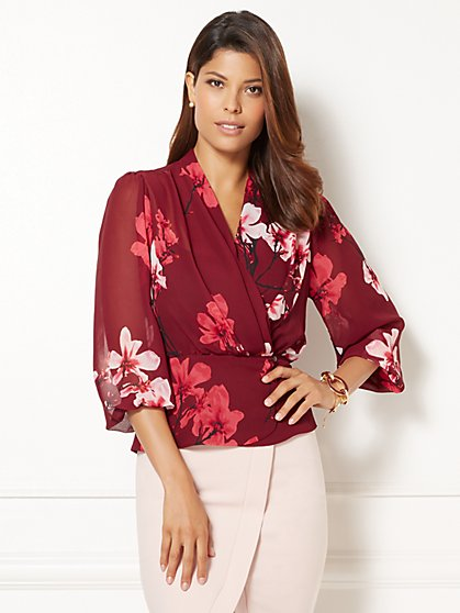 Eva Mendes Collection - Charlotte 3/4-Sleeve Blouse  - New York & Company