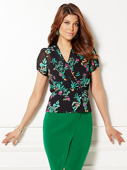 Eva Mendes Collection - Charlotte Blouse - Black  - New York & Company