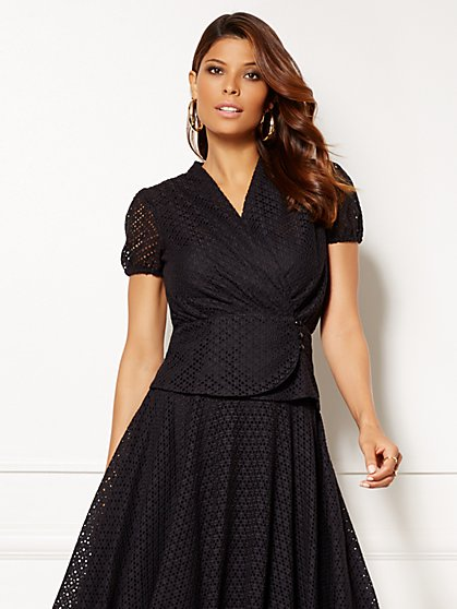 Eva Mendes Collection - Charlotte Blouse - Eyelet   - New York & Company