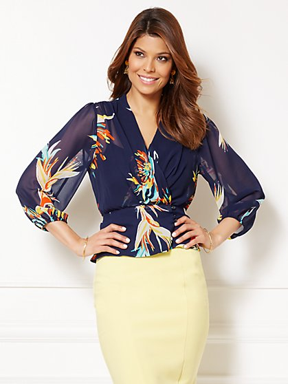Eva Mendes Collection - Charlotte Blouse - Floral Print  - New York & Company