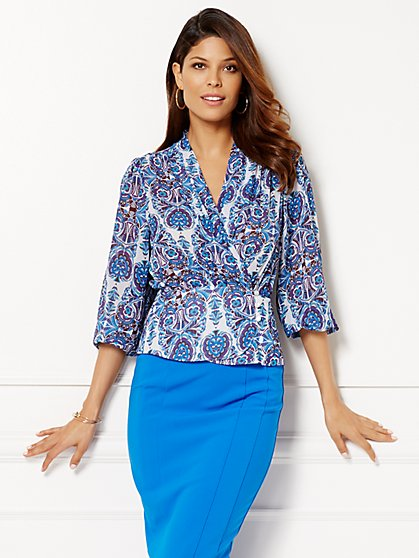 Eva Mendes Collection - Charlotte Blouse - Floral  - New York & Company