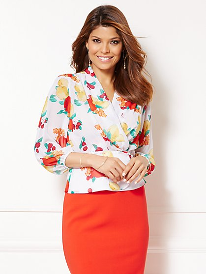 Eva Mendes Collection - Charlotte Blouse - Fruit Print  - New York & Company