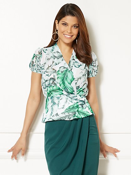 Eva Mendes Collection - Charlotte Blouse - Palm Print - New York & Company